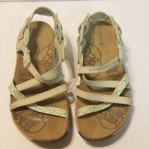 merrell terran lattice womens sandals ivory 5